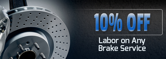 10% Off Labor on Any Brake Service
